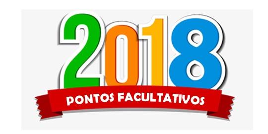 Calendário dos feriados e pontos facultativos de 2018