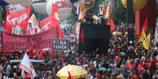 O Brasil não quer a reforma da Previdência: confira como foram os atos em todo o país