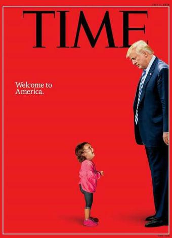 Capa da revista Time critica agressão de Trump à crianças