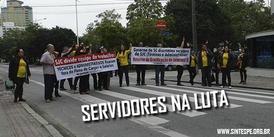 Técnicos e administrativos retornam para SJC em mais uma manifestação