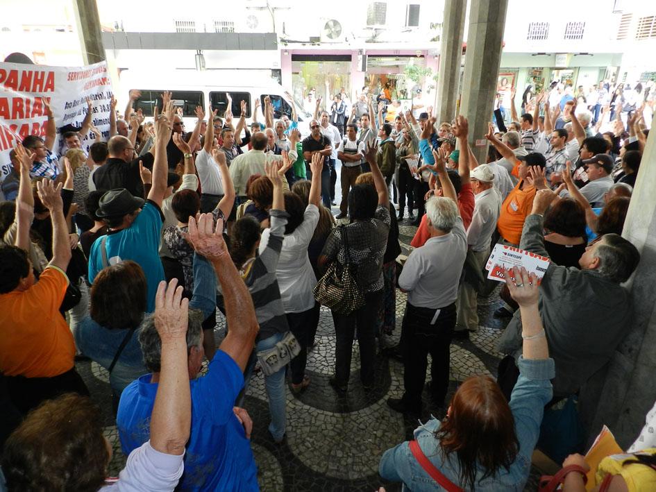 Assembleia delibera mobilização para o próximo dia 23/11