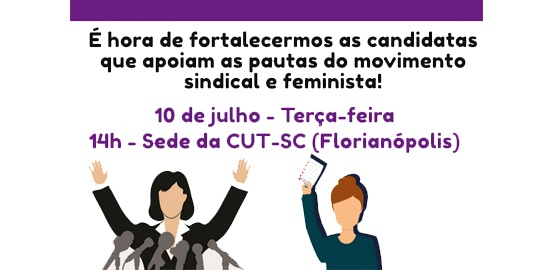 Coletivo de Mulheres da CUT-SC se reunirá para debater candidaturas de mulheres