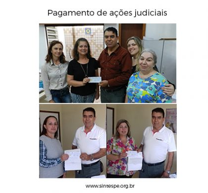 Pagamento de ações judiciais