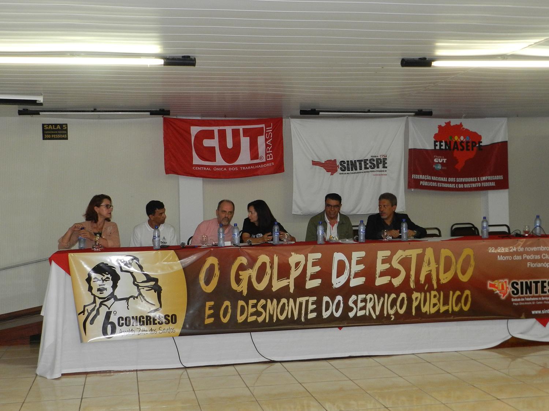 Dívida pública, conjuntura e homenagens marcam o primeiro dia do VI Congresso do SINTESPE