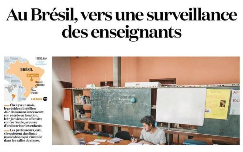 Escola Sem Partido é o Brasil prestes a vigiar professores, diz jornal francês