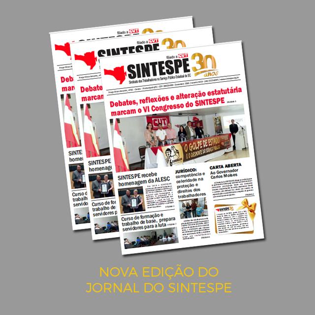 Jornal do SINTESPE – Dezembro/Janeiro