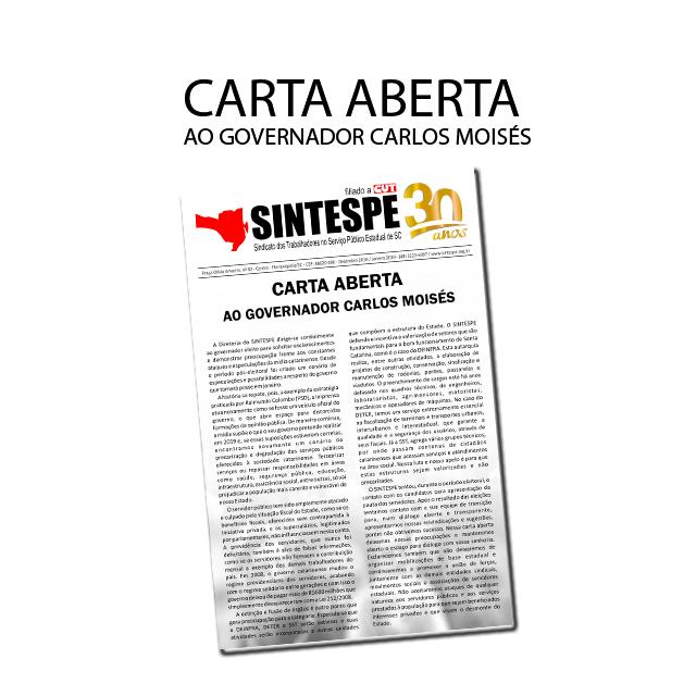 Carta aberta ao governador Carlos Moisés