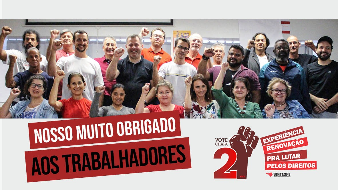 Chapa 2 vence as eleições para o período 2019-2022, com 62% dos votos