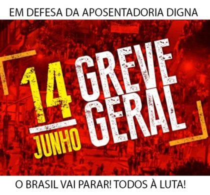 Dia 14 é Greve Geral! Confira os atos confirmados em Santa Catarina