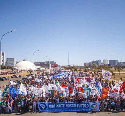 Manifestação de estudantes 12 de julho em Brasília. Crédito da foto: Rebeca Belchior-CUCA da UNE