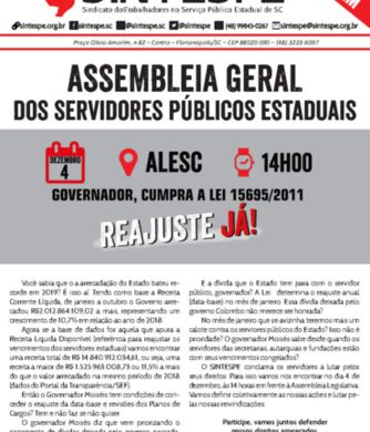 ASSEMBLEIA UNIFICADA contra o desmonte do serviço público