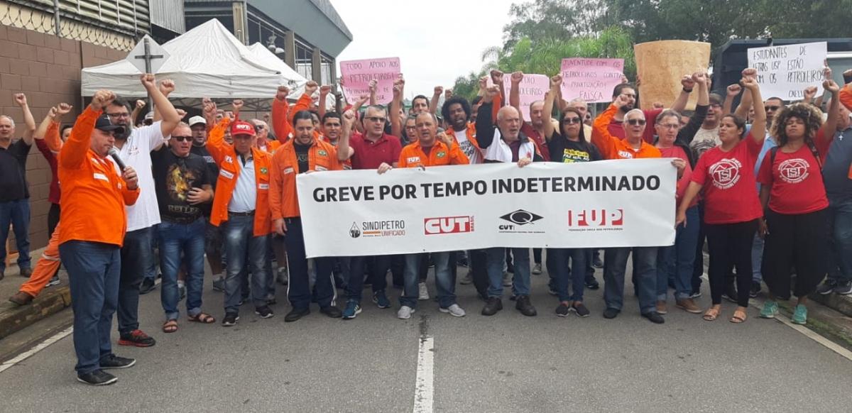 Atos em todo o país marcam o 7º dia da greve nacional dos petroleiros