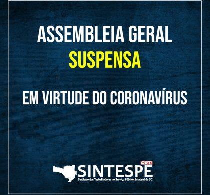Suspensa a Assembleia Geral de 18 de Março