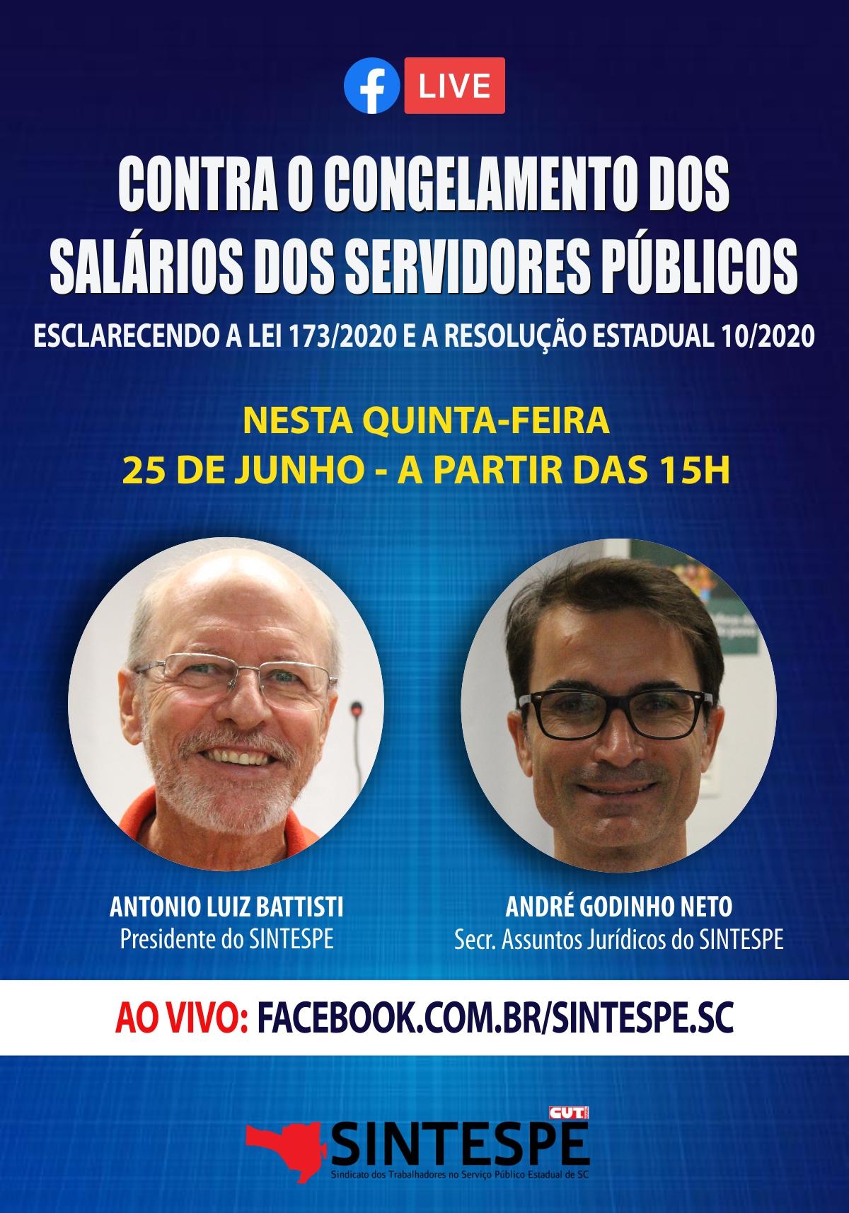 CONTRA O CONGELAMENTO DOS SALÁRIOS DOS SERVIDORES PÚBLICOS