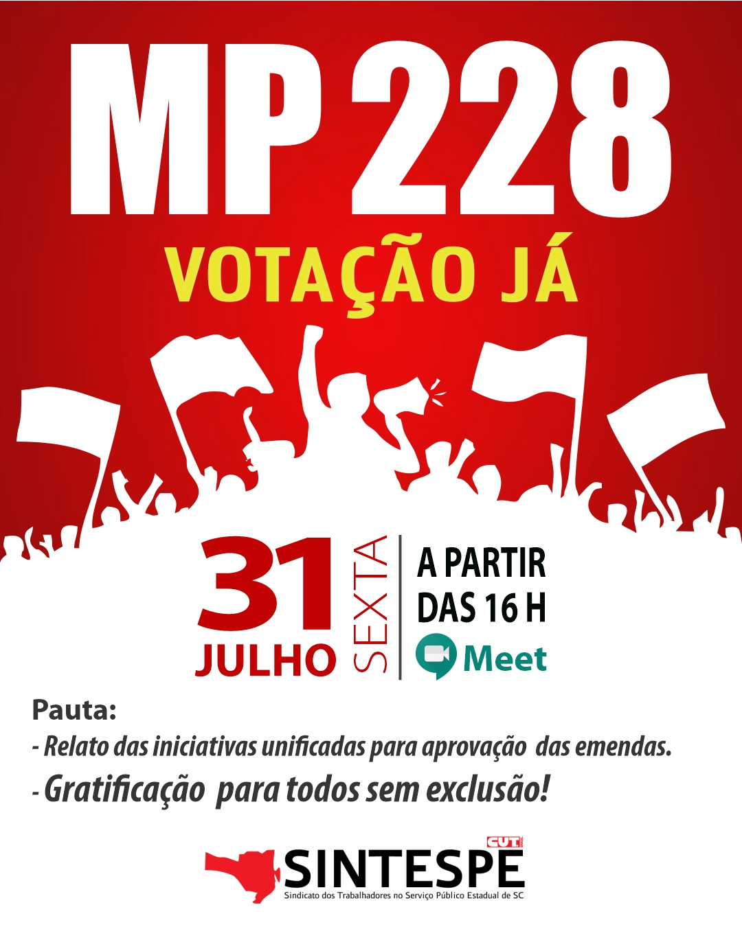 REUNIÃO MP 228: VOTAÇÃO JÁ!