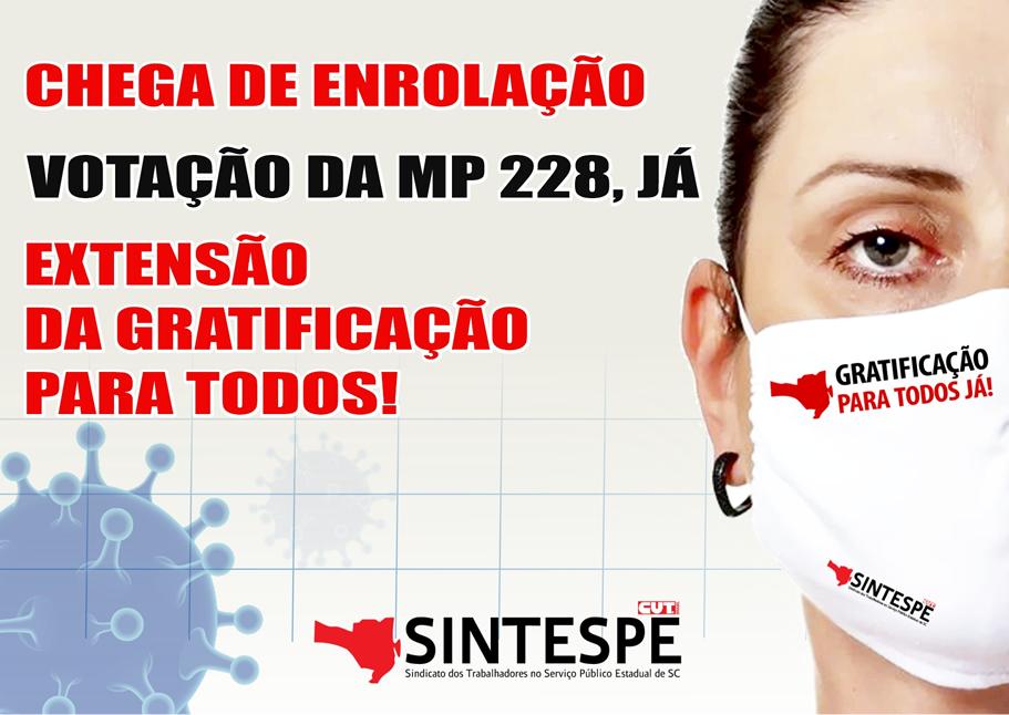 CHEGA DE ENROLAÇÃO VOTAÇÃO DA MP 228, JÁ!