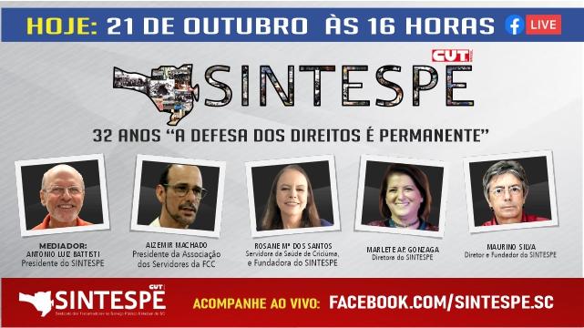 """SINTESPE 32 ANOS """"A DEFESA DOS DIREITOS É PERMANENTE"""""""