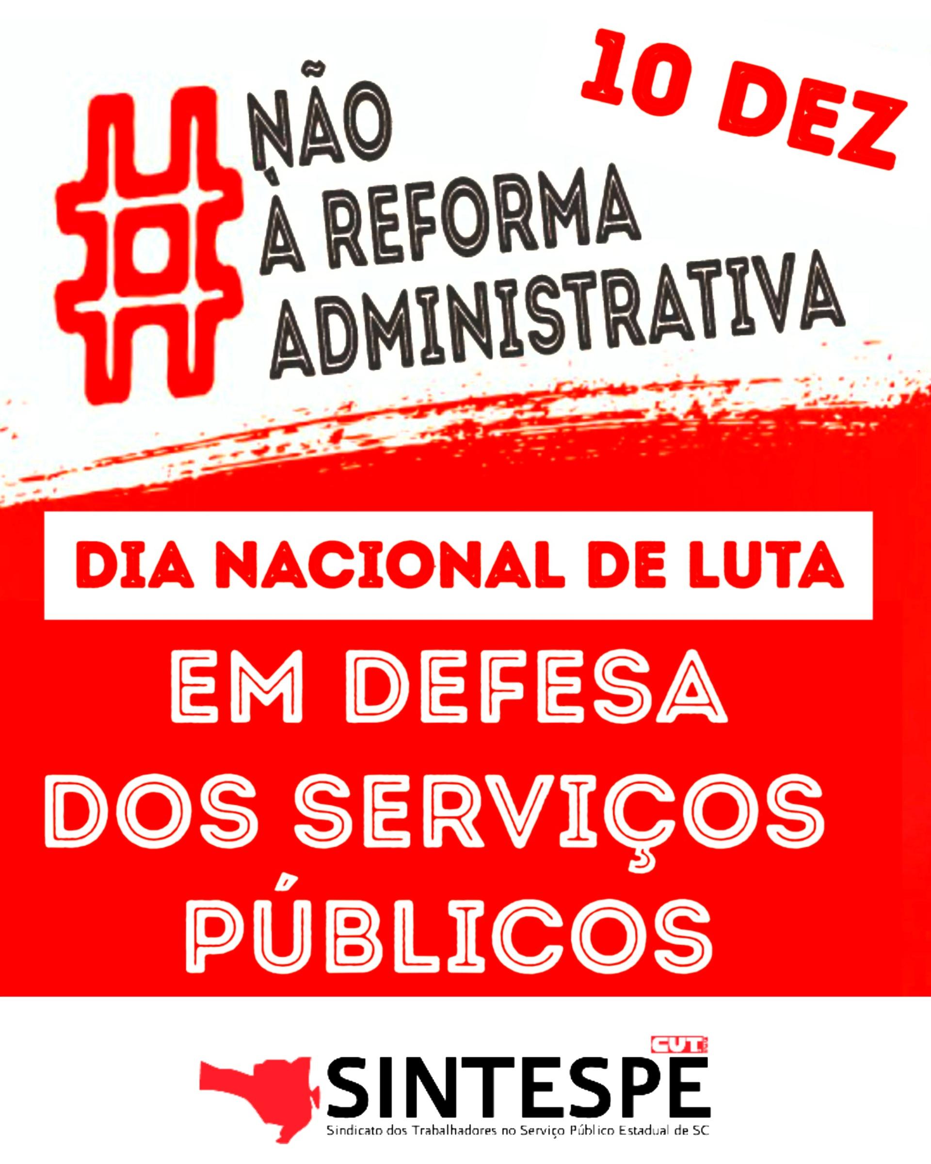 DIA DE LUTA EM DEFESA DO SERVIÇO PÚBLICO