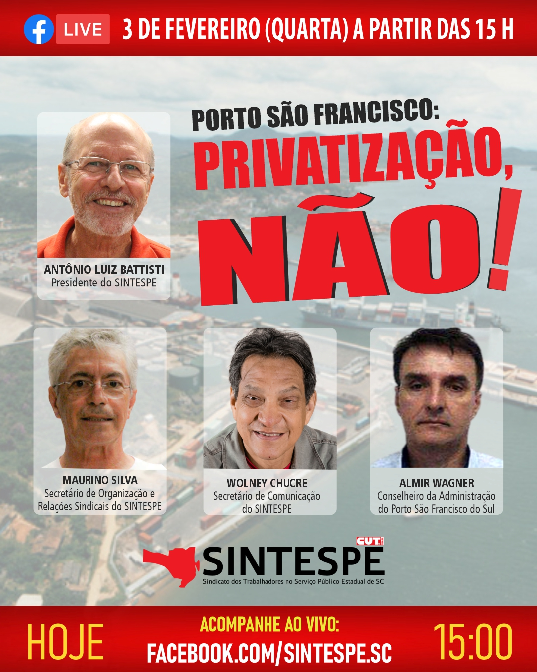 Porto São Francisco do Sul: PRIVATIZAÇÃO NÃO!