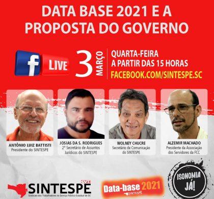 LIVE: DATA BASE 2021 E A PROPOSTA DO GOVERNO