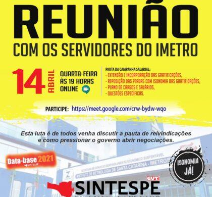 14/04: REUNIÃO AMPLIADA DO IMETRO