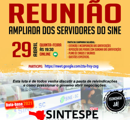 REUNIÃO AMPLIADA DOS SERVIDORES DO SINE