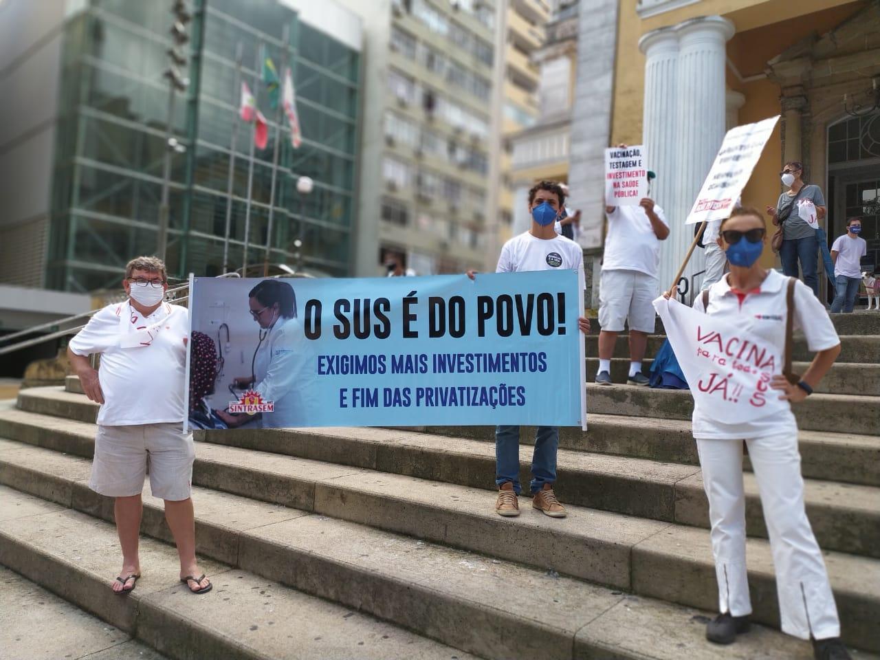 Ato unificado em Florianópolis Foto: Adriana Kanan