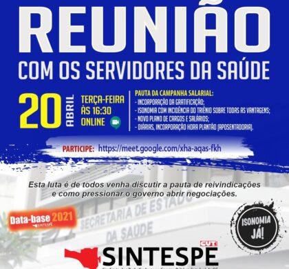 REUNIÃO COM OS SERVIDORES DA SAÚDE