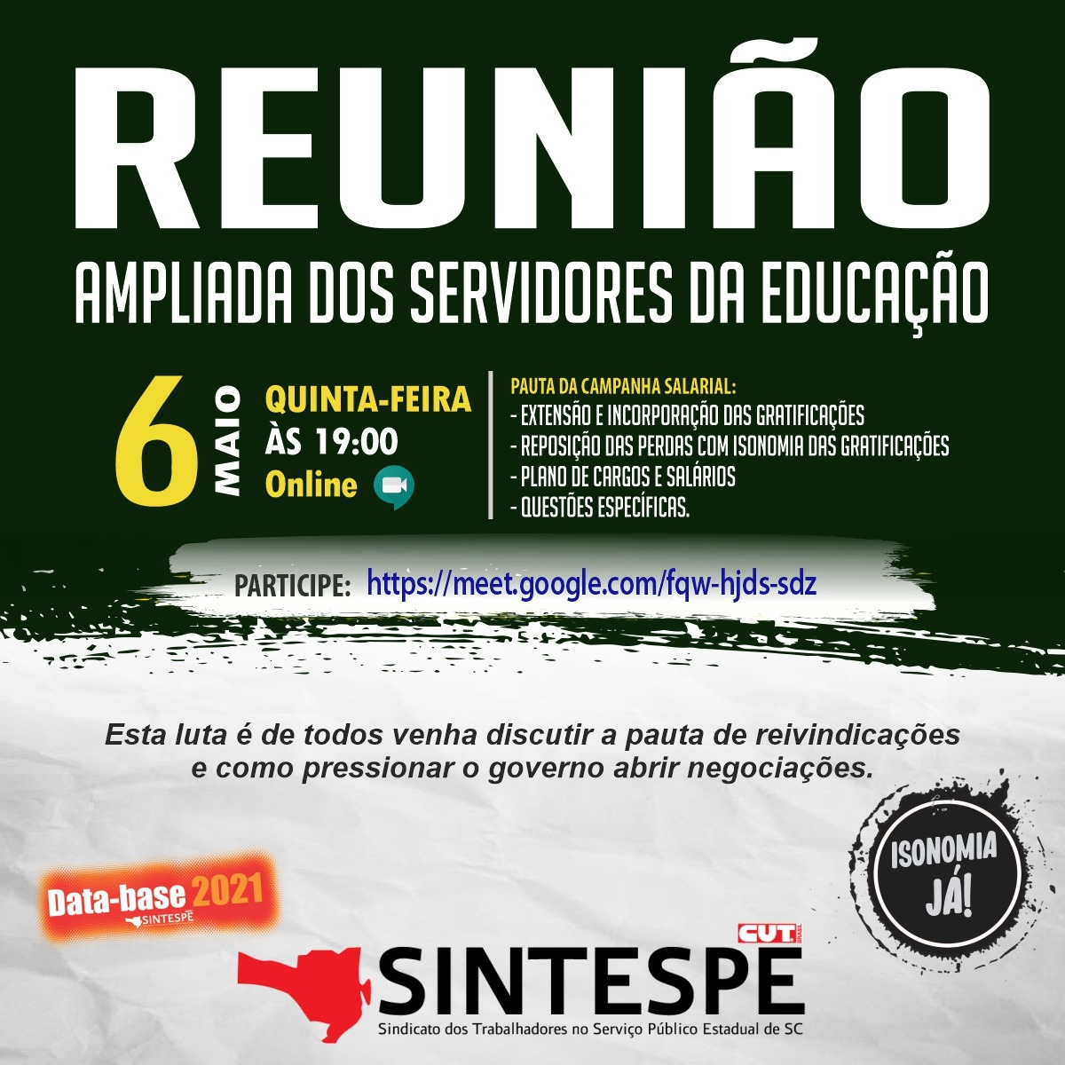 REUNIÃO AMPLIADA DOS SERVIDORES DA EDUCAÇÃO