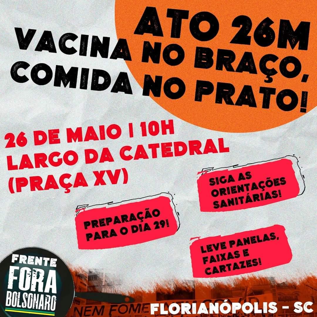 DIA 26M: ATO VACINA NO BRAÇO, COMIDA NO PRATO!