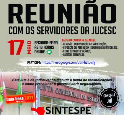 REUNIÃO AMPLIADA DOS SERVIDORES DA JUCESC