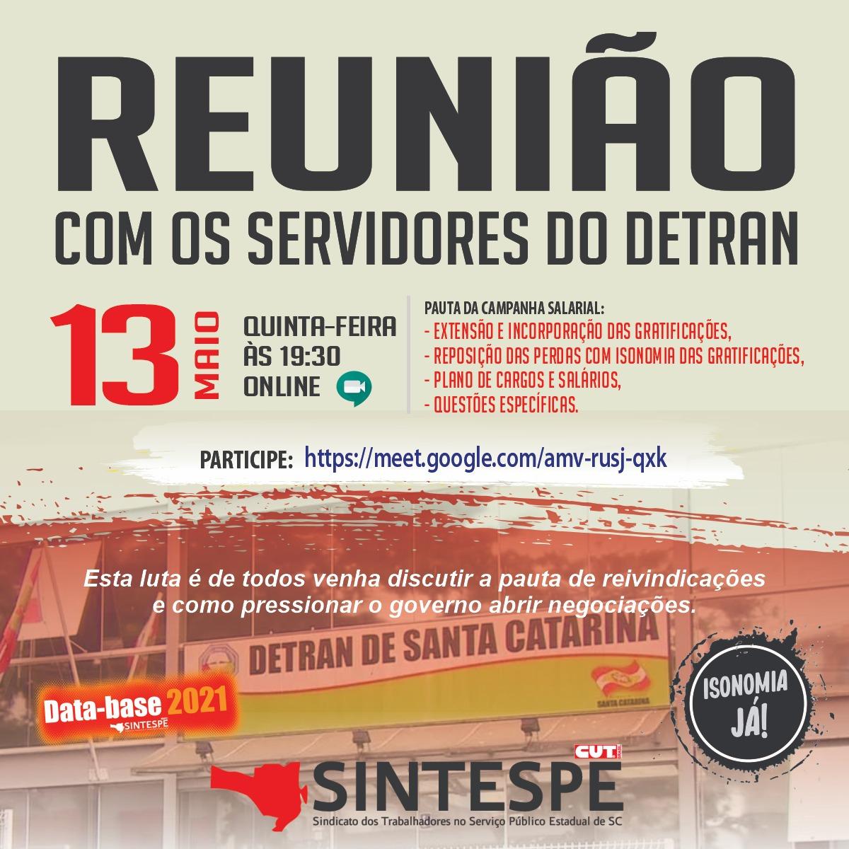 REUNIÃO COM OS SERVIDORES DO DETRAN/SC