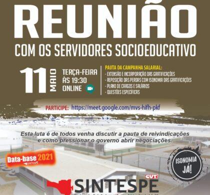 REUNIÃO COM OS SERVIDORES SOCIOEDUCATIVO