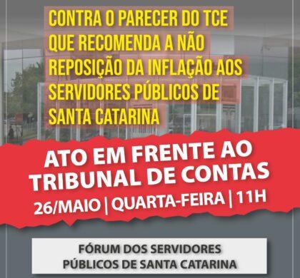 ATO CONTRA O PARECER DO TRIBUNAL DE CONTAS DE SANTA CATARINA