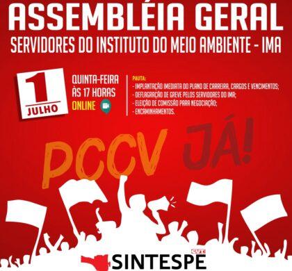 ASSEMBLÉIA GERAL DOS SERVIDORES DO INSTITUTO MEIO AMBIENTE (IMA)