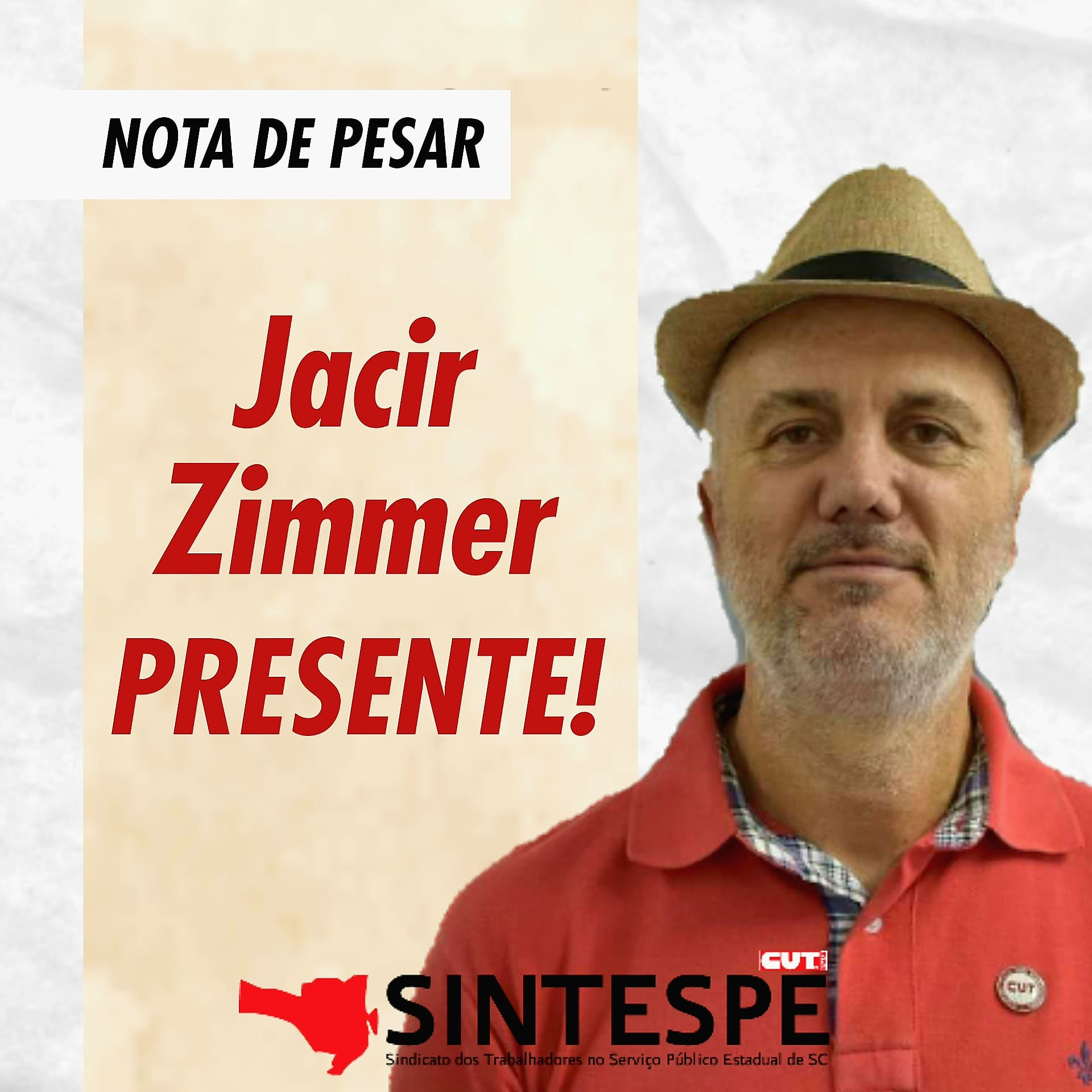 Nota de pesar: Jacir Zimmer