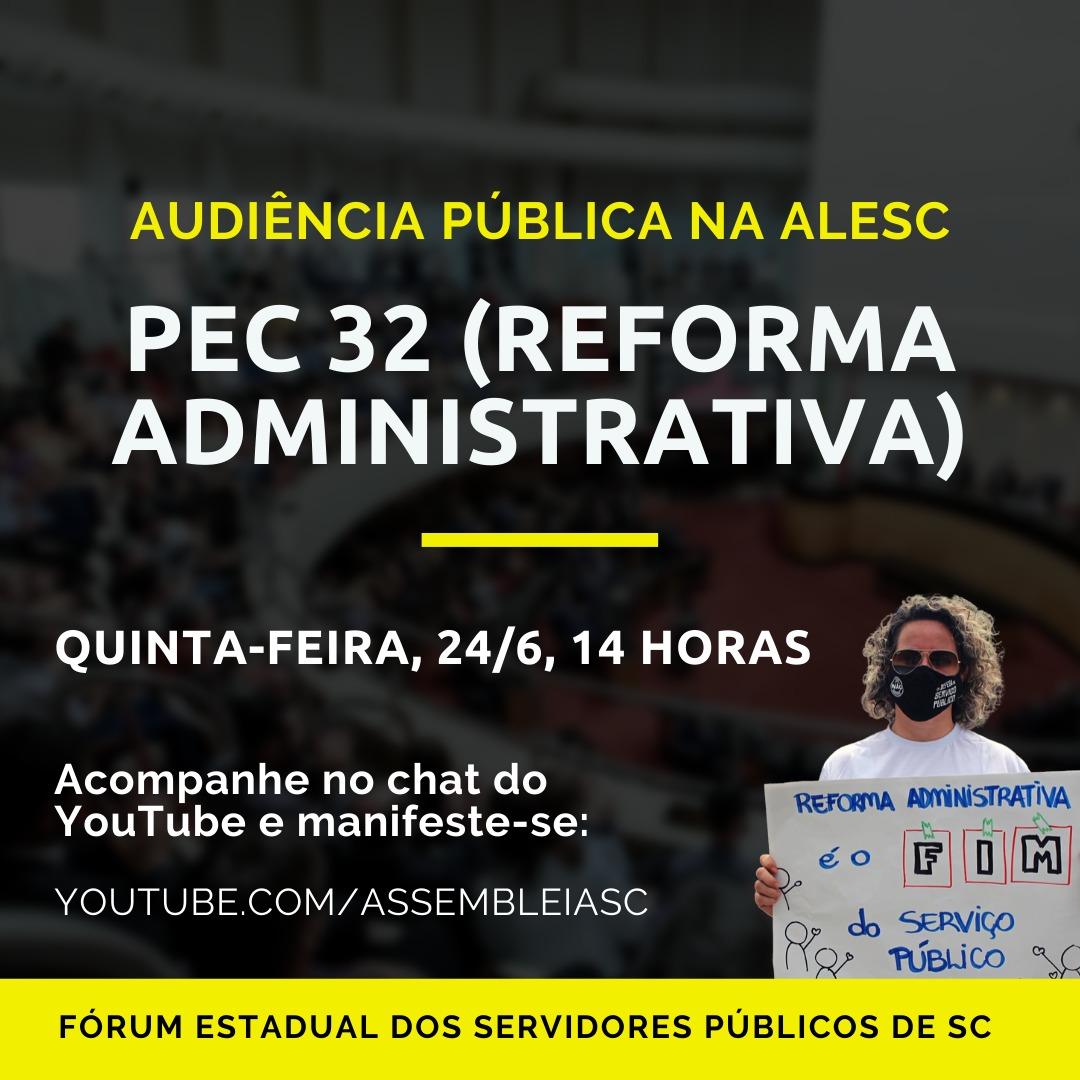 NÃO À REFORMA ADMINISTRATIVA DO GOVERNO BOLSONARO