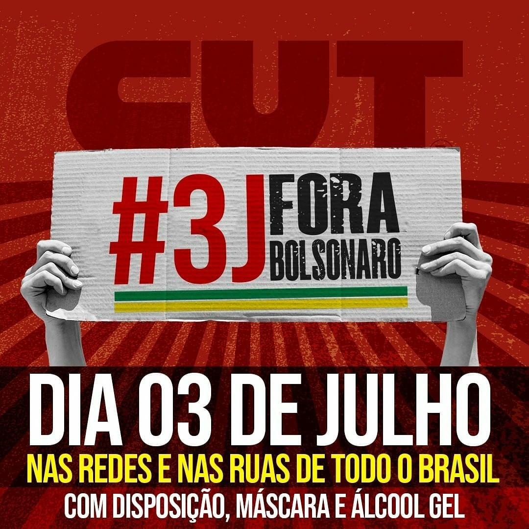 #3JForaBolsonaro | Santa Catarina se une ao restante do país por Fora Bolsonaro!
