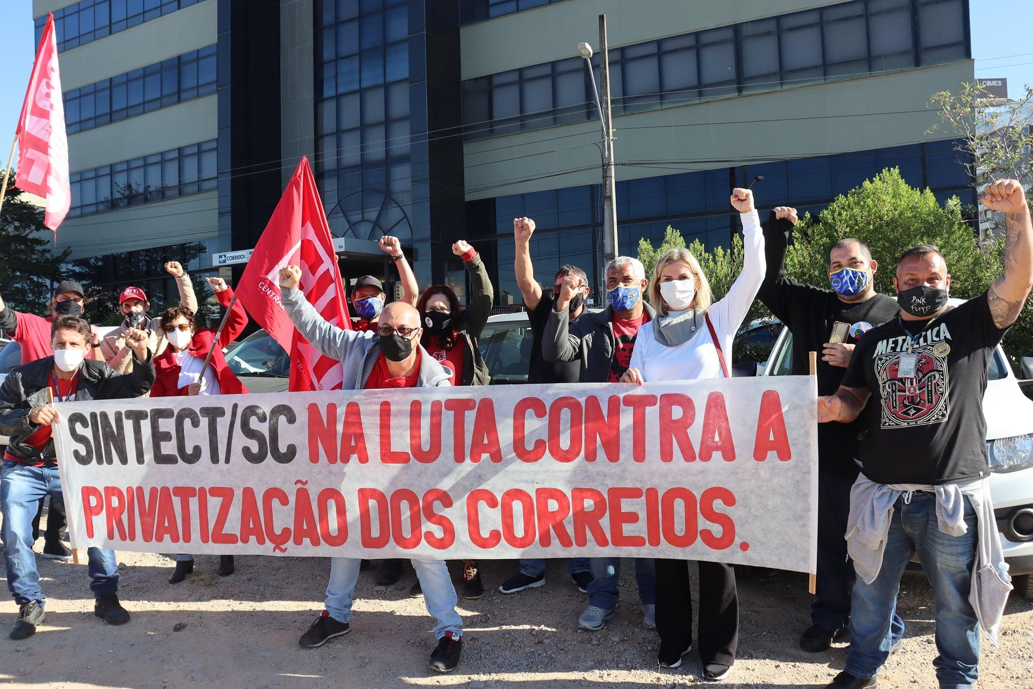 SINTESPE APOIA TRABALHADORES DOS CORREIOS CONTRA A PRIVATIZAÇÃO