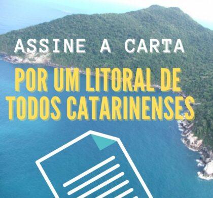 por um litoral de todos os catarinenses